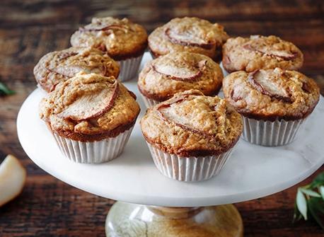 Muffins aux poires et aux cinq épices Recette