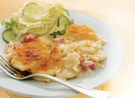 jambon et gratin dauphinois tout en un recette plaisirs laitiers. Black Bedroom Furniture Sets. Home Design Ideas