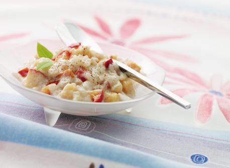 Pouding au riz aux pomme et à la cannelle Recette