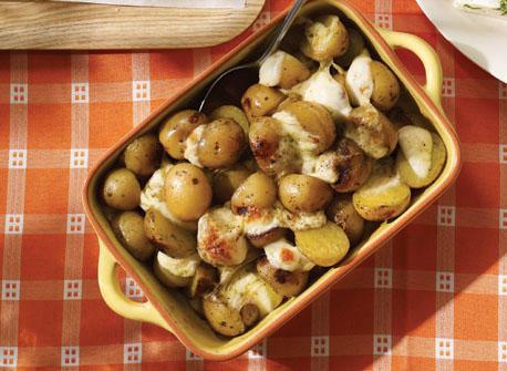 Papillote de pommes de terre grelot à la Mozzarella Recette