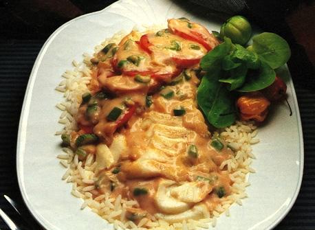 Poisson Cuit Au Four A La Creole Recette Plaisirs Laitiers