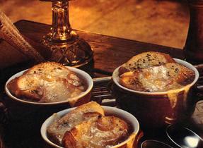 Soupe à l'oignon au four