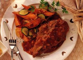 Côtelettes de porc avec sauce au barbecue