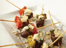 Brochettes au boeuf et au fromage Bleu recipe
