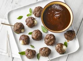 Boulettes de viande farcies au Bocconcini