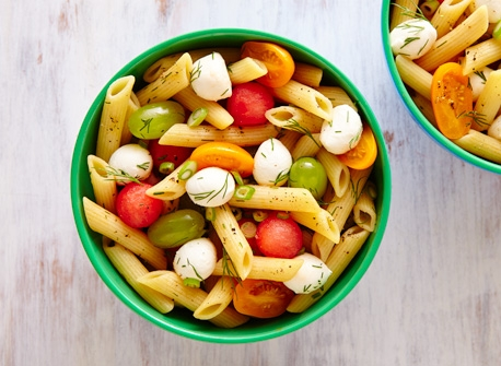 Salade de pâtes estivale au Bocconcini Recette