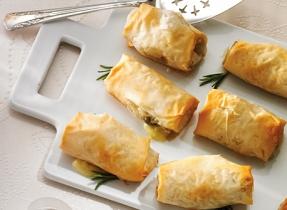 Pâtisseries au Brie, aux champignons et au romarin