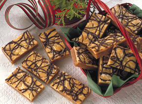 Barres au caramel amandine