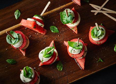 Brochettes Caprese tomate et melon Recette