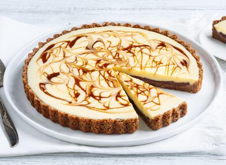 Tarte Au Chocolat Blanc Et Aux Tourbillons De Caramel Recette