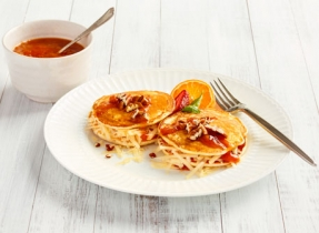 Sandwichs de crêpes au Cheddar et à la confiture