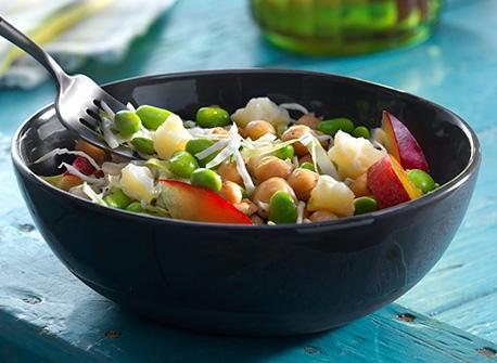 Salade de chou au Cheddar et aux pois chiches       Recette