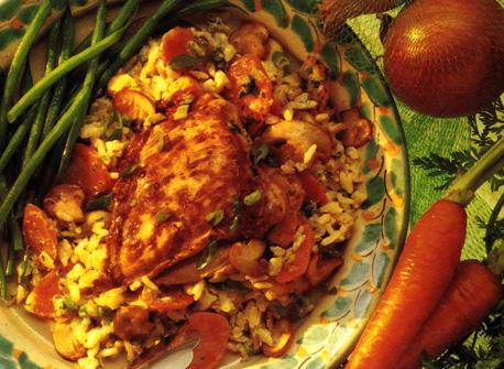 poulet et riz au four avec champignons recette plaisirs laitiers. Black Bedroom Furniture Sets. Home Design Ideas