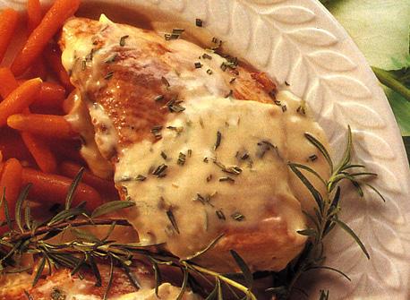 Poitrines de poulet au romarin  Recette