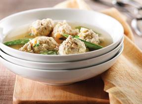Soupe aux boulettes de poulet et de Ricotta