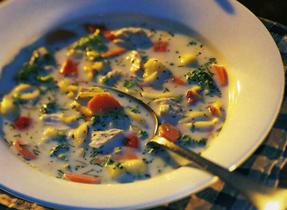 Chaudrée de poulet et légumes