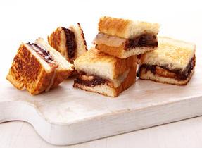 Mini sandwichs choco-banane au Havarti fondu