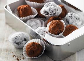 Truffes à la crème chocolatée