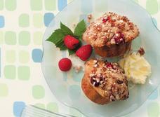 Muffins aux framboises avec croustillant à la cannelle recipe