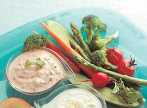 Trempette à la coriandre fraîche et à la salsa