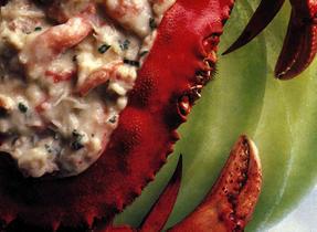 Bouchées de crabe et melon