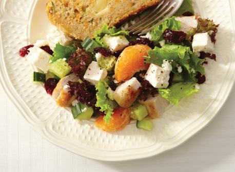Salade aux canneberges, à la dinde et à la Feta Recette