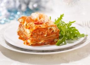 Lasagne crémeuse aux fruits de mer et fines herbes