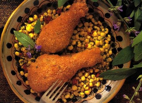 Pilons de poulet panés croustillants  Recette
