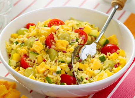 Salade de riz au curry avec Cheddar fort Recette