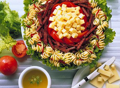 Salade de pâtes gourmet recette | Plaisirs laitiers