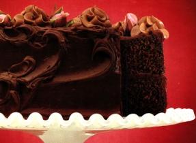 Gâteau au chocolat double fudge