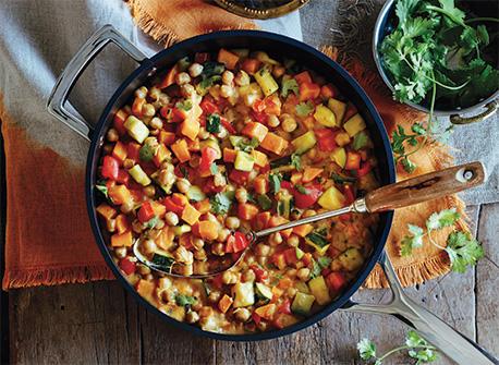 Cari aux pois chiches et aux légumes d'automne Recette
