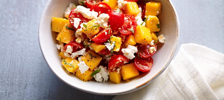 salade mangue et feta recette plaisirs laitiers