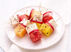 Brochettes à la Feta et au melon