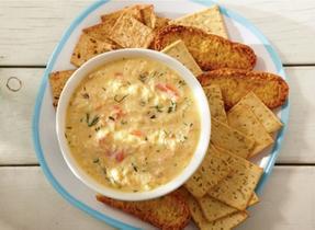 Trempette de crabe aux quatre fromages