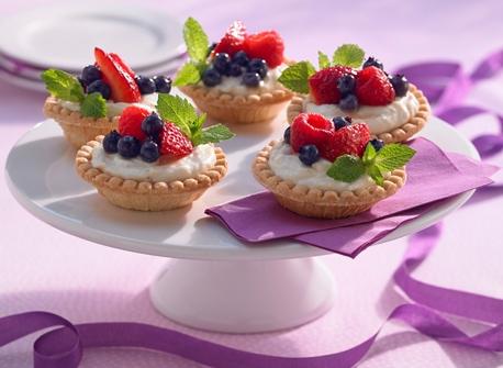 Tartelettes aux fruits frais et à la crème au Mascarpone recette ...