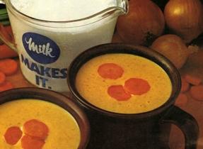 Potage doré aux carottes