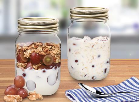 Parfaits Déjeuner Raisins et noix Recette