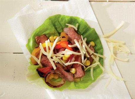 Rouleaux au bifteck grillé et au Monterey Jack Recette