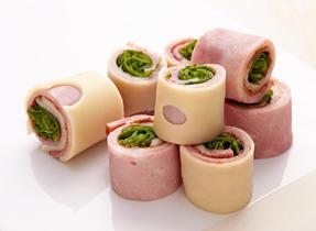 Roulades de jambon et fromage Suisse