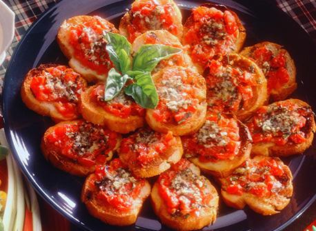 Baguettes grillées à l\u0027italienne (Bruschetta) Recette
