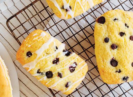 Mini pains au citron et aux bleuets Recette