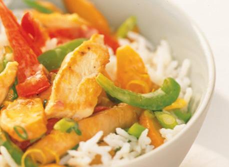 Sauté de poulet citronné et de légumes  Recette