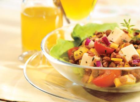 Salade aux lentilles et au havarti recette plaisirs laitiers - Cuisiner lentilles seches ...
