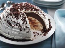 Bombe marbrée au chocolat recipe