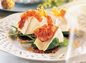 Bouchées de crevettes au Triple crème DuVillage de Warwick