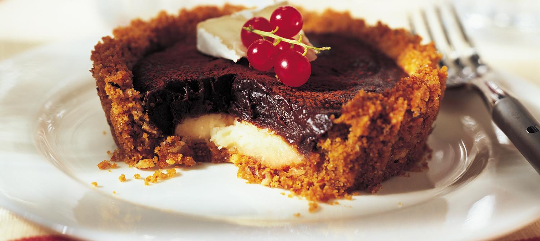 Tartelettes au chocolat fondant et au Brie recette ...