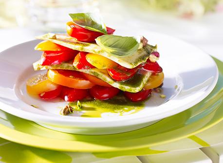 Merveilleuse Mozzarella aux pistaches croquantes Recette