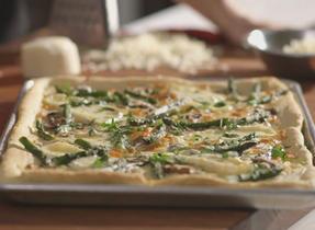 Pizza champignons et asperges