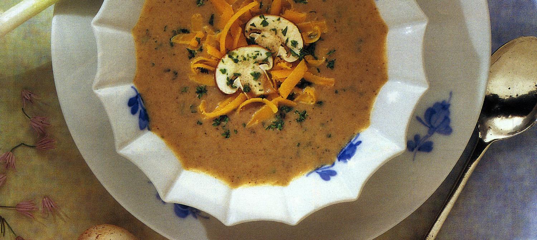 Potage aux champignons et au Cheddar recette | Plaisirs laitiers